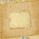 Grunge alienated paper design. In scrapbooking style royalty free illustration