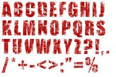 Grunge alphabet. On white background Royalty Free Stock Photo
