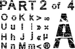Grunge alphabet royalty free stock images