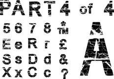 Grunge alphabet. Grunge vector alphabet part 4 Stock Photo
