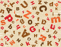Grunge alphabet background Royalty Free Stock Photo