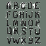 Grunge Alphabet. Hand drawn font. Royalty Free Stock Images