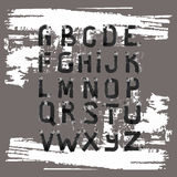 Grunge Alphabet. Hand drawn font. Stock Images