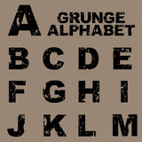 Grunge alphabet set [A-M] Stock Images