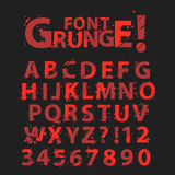 Grunge Alphabet royalty free illustration