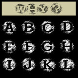 Grunge Alphabet A to L Royalty Free Stock Photos