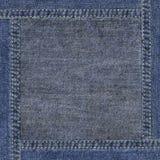 Grunge altamente detalhado textura desgastada da sarja de Nimes Imagem de Stock