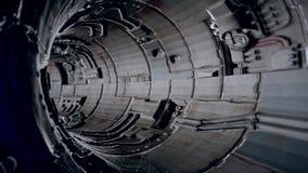 Grunge alto - túnel da tecnologia ilustração do vetor