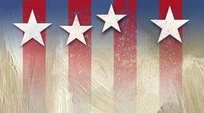 Grunge américain de fond de bannière étoilée Images libres de droits