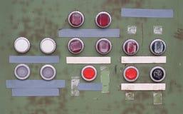 grunge łamany kontrolny panel Zdjęcie Stock