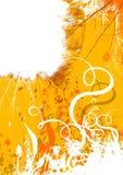 Grunge amarelo da mola Fotografia de Stock