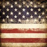 Grunge american flag. Royalty Free Stock Image