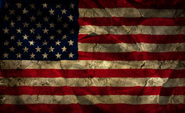 Grunge American flag background. With folds and creases Stock Image