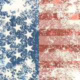 Grunge American flag background. Vector illustration Royalty Free Stock Images