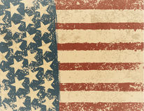 Grunge American flag background. Vector illustration, EPS 10 Royalty Free Stock Photo