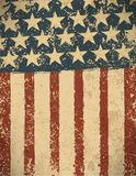 Grunge American flag background. Vector illustration, EPS 10 Royalty Free Stock Photos
