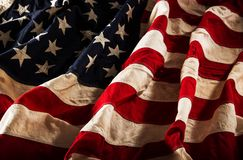 Grunge American flag Stock Photo