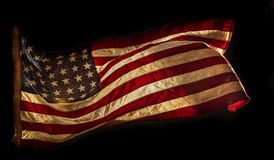 Grunge American flag. Close-up Royalty Free Stock Images
