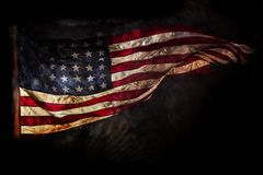 Grunge American flag. Close-up Royalty Free Stock Photography