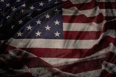 Grunge American flag. Closeup of grunge American flag Stock Photography