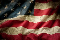 Grunge American flag. Closeup of grunge American flag Royalty Free Stock Photo