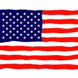 Grunge American Flag for Independence Day. Vector Illustration Stock Images