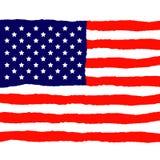 Grunge American Flag for Independence Day. Vector Illustration stock illustration