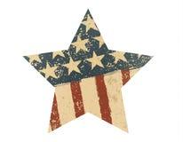 Grunge American flag star. Vector illustration. EPS 10 royalty free illustration