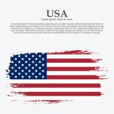 Grunge American flag.Vector flag of USA. stock photography