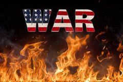 Grunge American flag, war concept Stock Photography