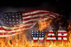 Grunge American flag, war concept Royalty Free Stock Photos