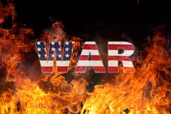 Grunge American flag, war concept Royalty Free Stock Image