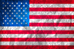 Grunge American flag. Watercolor flag of USA. vector background Stock Photos