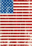 American vertical flag royalty free illustration