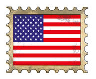 Grunge american postage. Isolated on white.  4th of july concept Stock Images