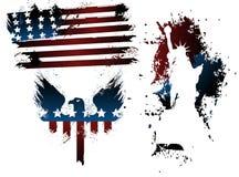 Grunge american set Royalty Free Stock Images