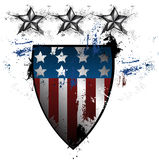 Grunge American Shield Royalty Free Stock Photos