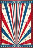 Grunge americano do cartaz Imagens de Stock Royalty Free