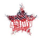 Grunge Amerikaanse ster Vectorillustratie voor de vakantie 4 Juli Royalty-vrije Stock Afbeelding