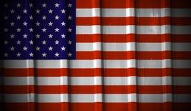Grunge Amerikaanse vlag Stock Afbeelding
