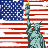 Grunge Amerikanerhintergrund Stockfotografie