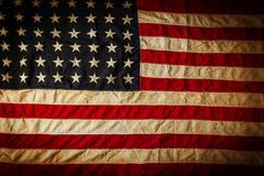 Grunge amerikanische Flagge Stockfotos
