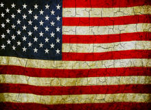 Grunge amerikanska flaggan Arkivfoton
