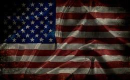 Grunge amerikanska flaggan Royaltyfri Fotografi