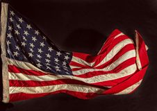 grunge amerykańskiej flagi Obrazy Stock