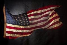 grunge amerykańskiej flagi Obraz Stock