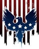 Grunge amerykanin Eagle ilustracja wektor