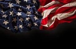 grunge amerykańskiej flagi Zdjęcie Royalty Free