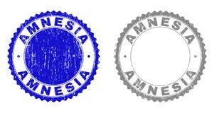 Textured AMNESIA Grunge Stamps vector illustration
