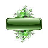 Grunge & hoog - technologie vectorbanner of knoop. Stock Afbeeldingen